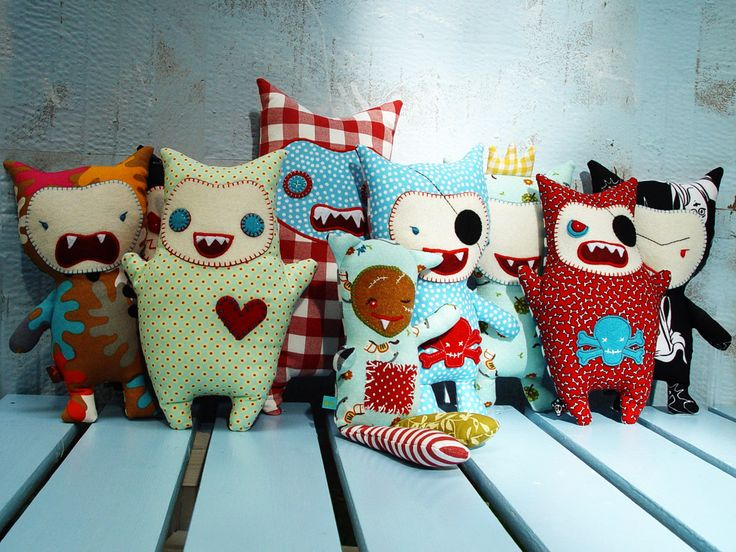 1000 images about teach fabric monsters on pinterest for Monster themed fabric