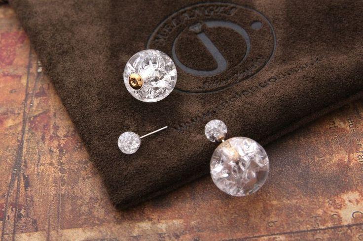 crack ceramics ball earring
