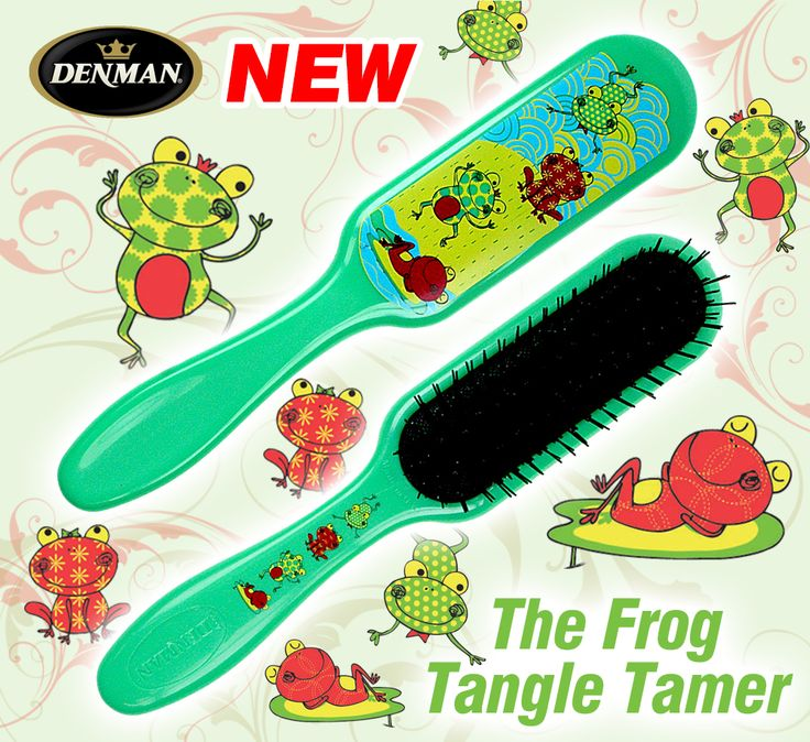Coming Soon to the Denman Online Store - The Denman Frog Tangle Tamer! #Hair #Detangling #DenmanBrush
