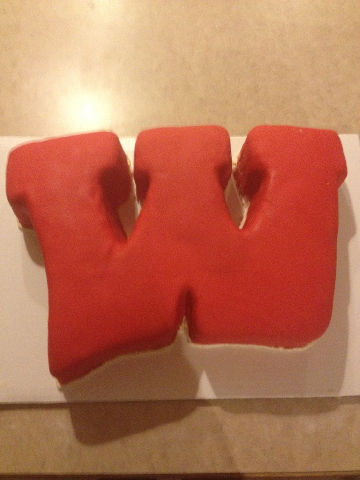 Decorating Ideas > Wisconsin Badgers Motion W Cake  Totally Baked By ME  ~ 222501_Birthday Party Ideas Madison Wi