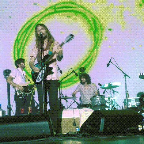 kevin parker of tame impala at the beacon theatre 11/10  2014/GIF/laura grace marchi