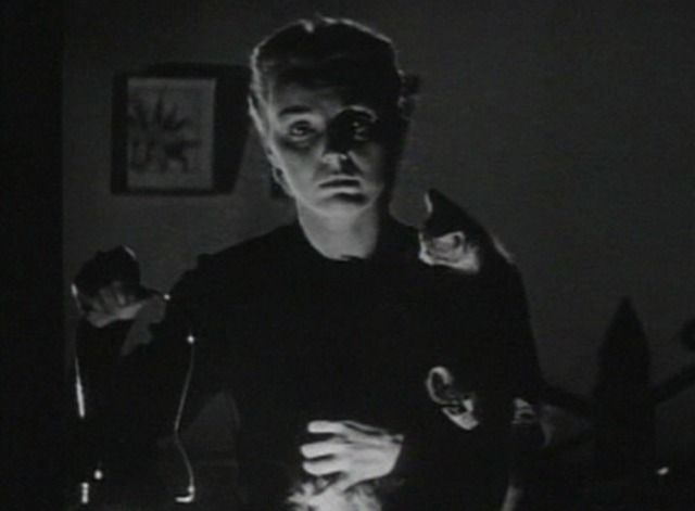 A woman named Joan (Lynn Merrick) is seen in the dark holding kittens at the beginning and end of Voice of the Whistler (1945).