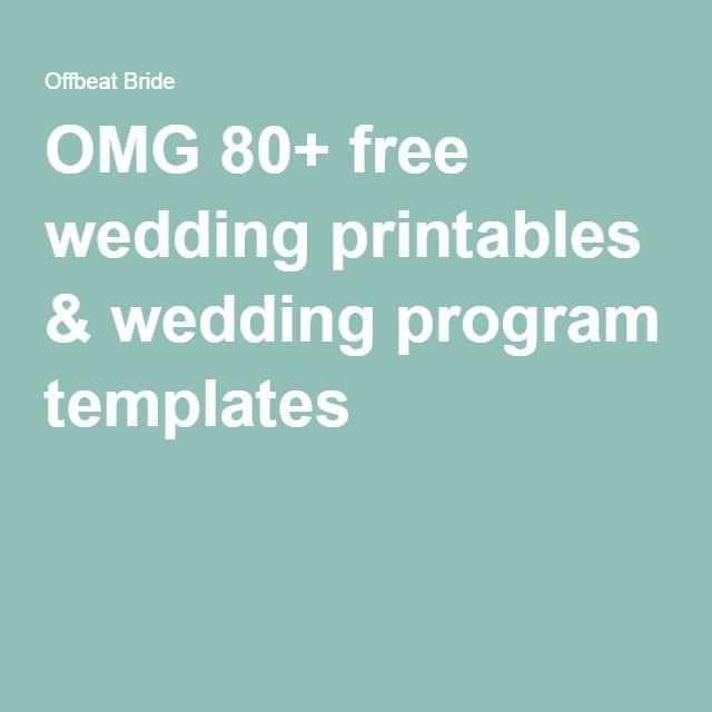 DIY what do you put on wedding programs?