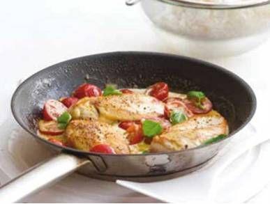 kuře na smetaně s cherry rajčaty