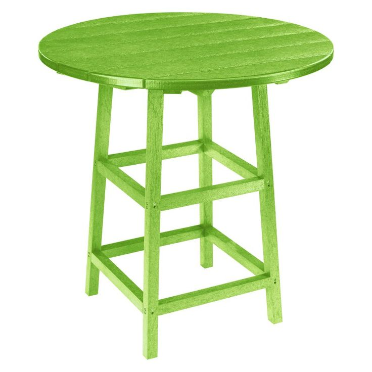 Outdoor CR Plastic Generations 37 in. Round Pub Height Table Kiwi - TBT03-17