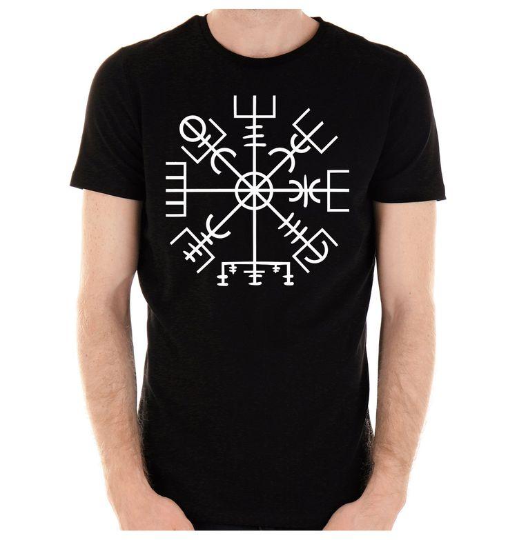 Vegvisir Viking Compass Symbol Men's T-Shirt Viking Old Norse