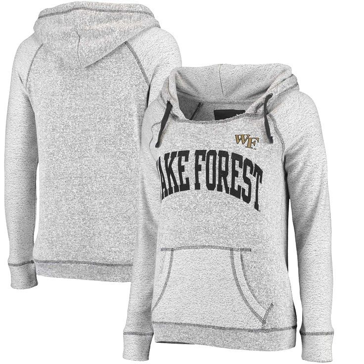 Wake Forest Demon Deacons Women's Horizon French Terry Hoodie - Gray - $39.99