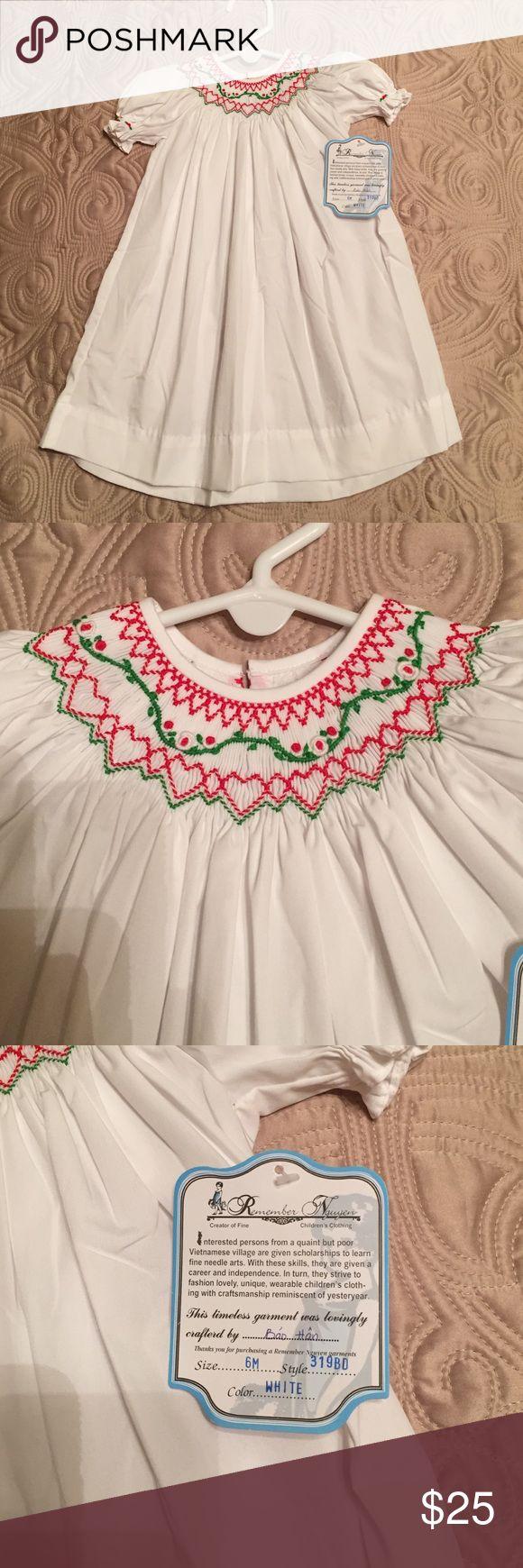 Christmas smocked dress Remember Nguyen gorgeous smocked Christmas dress. NWT Dresses Casual