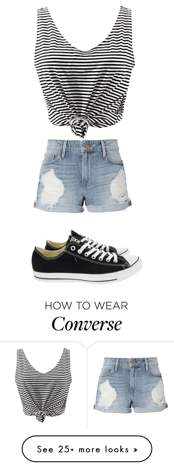 """Без названия #724"" by gazieva-dinara on Polyvore featuring WithChic, Frame and Converse"