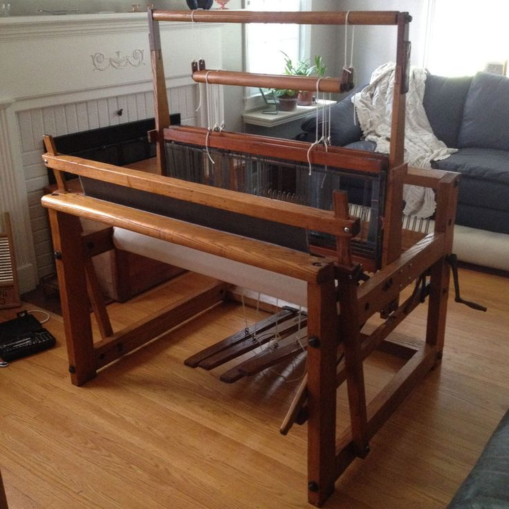 Floor Looms For Sale: Vintage Walker Counterbalance Weaving Loom, Floor Loom