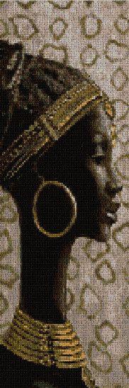 PERAFR-I: Mujer africana (esquema y Kit de punto de cruz)                                                                                                                                                                                 Más