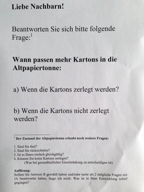 Altpapiertonne Berlin Nachbarschaft Kartins Mullraum Mull Nachbarschaftsquiz Nervige Nachbarn Notes Of Zitate Zum Thema Liebe Witzige Spruche Urkomische Zitate