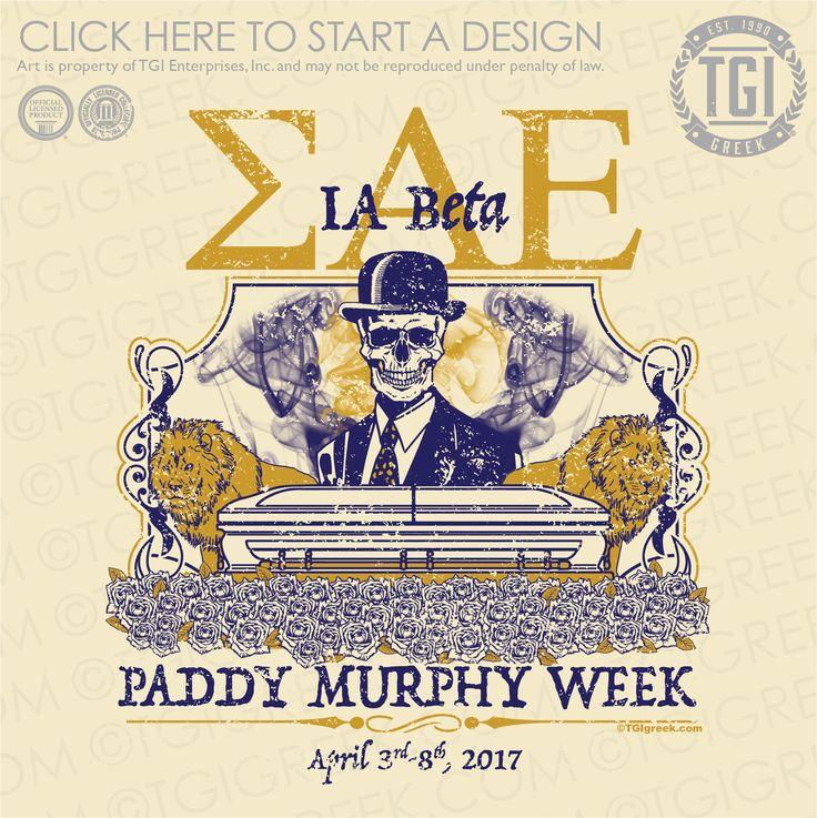 Sigma Alpha Epsilon | ΣΑΕ | SAE | Paddy Murphy Week | TGI Greek | Greek Apparel | Custom Apparel | Fraternity Tee Shirts | Fraternity T-shirts | Custom T-Shirts