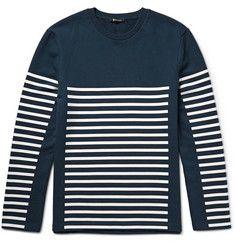 Alexander WangT By Alexander Wang Striped Loopback Cotton-Jersey Sweatshirt