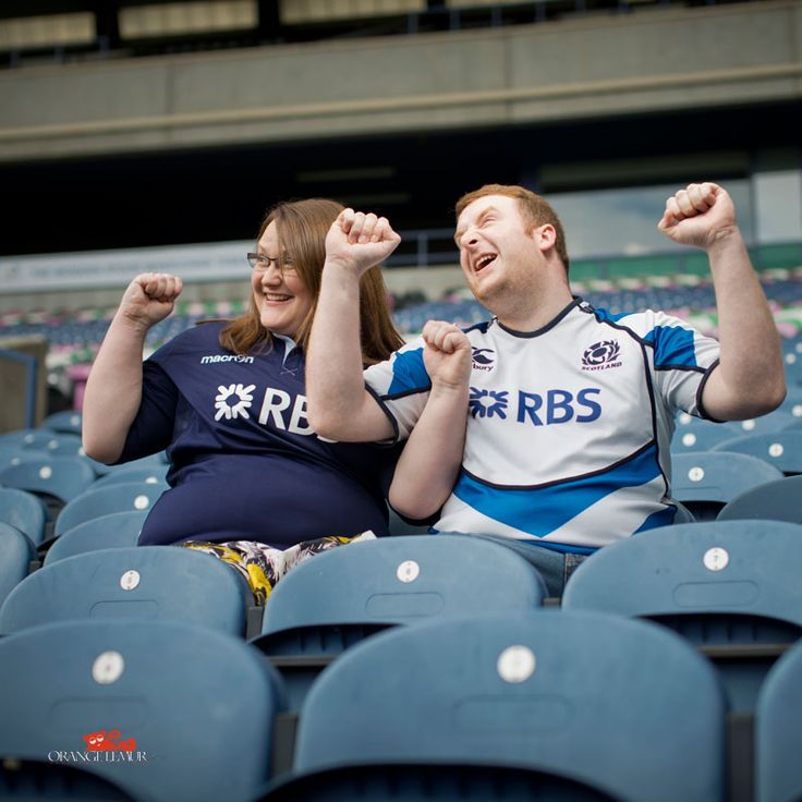 pre wedding session at Murrayfield Stadium