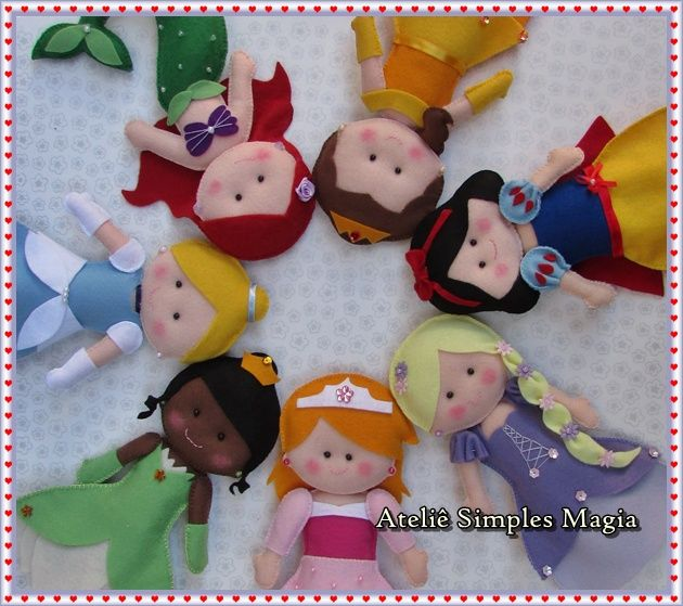 princes diney,, aren't these adorable! What kind of felt do you use to make these, 'cuz mine doesn't turn out this clean and nice!?