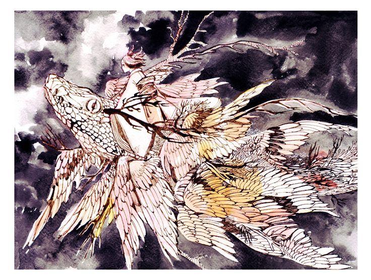 flying creature by koyamori.deviantart.com on @deviantART