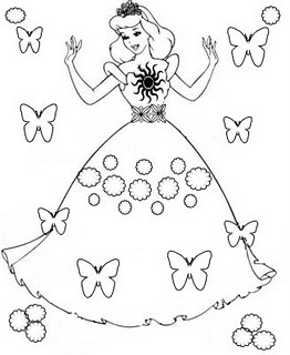 printable princess coloring pages for free - Coloring Stencils