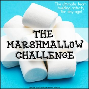 Free: The marshmallow challenge is the ultimate team building activity for any age. The challenge is pretty simple and the best part, cheap for the teachers. Each team must build a freestanding structure using the materials provided, spaghetti noodles, tape, string, and a marshmallow.