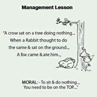 Management Lesson..