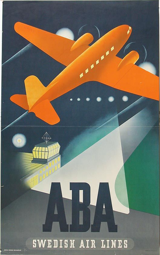 1940's AB Aerotransport (ABA) Swedish airlines