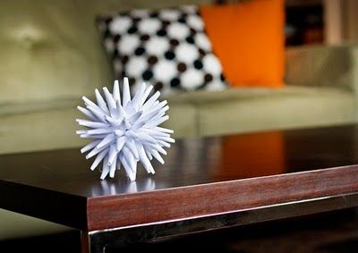 DIY instructions for star urchin paper ornament