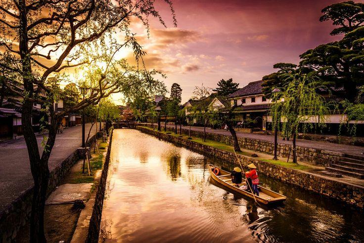Linda paisagem asiática