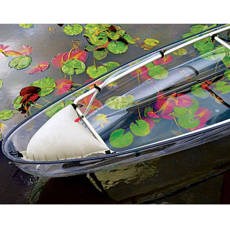 transparent canoe kayak canoe kayak hybrid with a transparent polymer