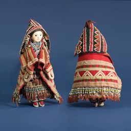 Native American Indian artifact from the Warnock collection - Cree - Woodlands Cree Doll