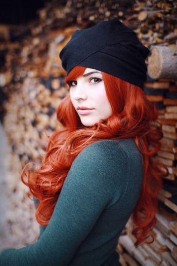Bright orange hair.
