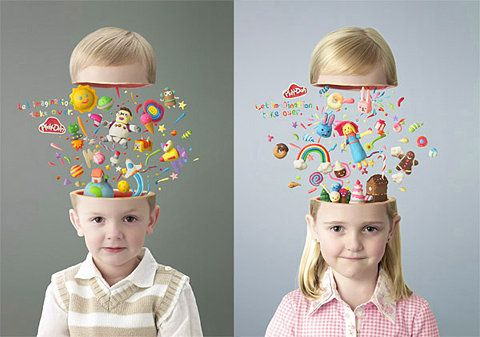 Let Imagination Take Over. Posters for Play-Doh modeling clay. think simple act simple