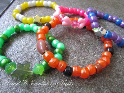 B and D Novelties and Gifts: Pony Bead Bracelets and Charms
