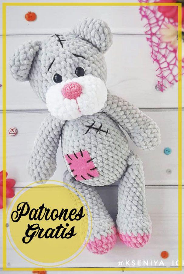 Crochet Toys Patterns, Amigurumi Patterns, Stuffed Toys Patterns, Amigurumi Free, Crochet Bear, Crochet Dolls, Baby Dolls, Free Pattern, Lily