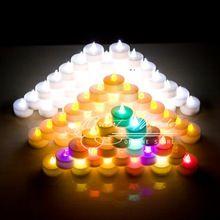Vela vela de la boda 18 unids sin llama LED vela Electrónica 1.5 pulgadas Sin Humo parpadeo led tea light velas votivas decorativos