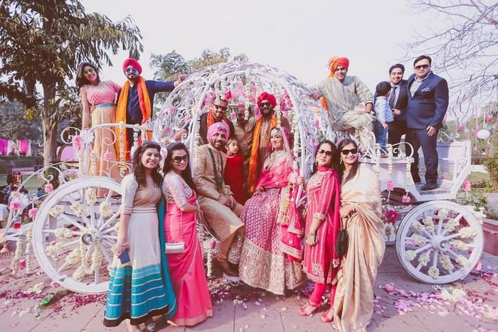 Pink Winter Delhi Wedding With a Touch of Elegance! | WedMeGood