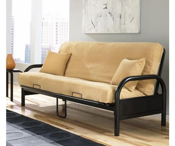 *Futon mattresses sold separately*  The Saturn futon features an almost indestructible, industrial metal frame that can travel anywhere. Fashioned with high arched arms and a sturdy back, the Saturn is a futon that is as comfortable as it is fashionable.