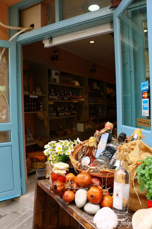 Traditional products shop; photo from Nafplio, Argolis Region