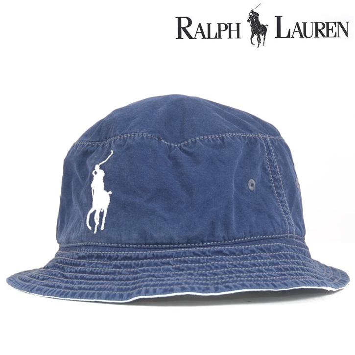 Polo Ralph Lauren(ポロラルフローレン) サファリハット BIG PONY ネイビー hat-rl-004