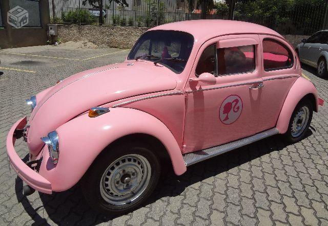Vw - Volkswagen Fusca rosa mais amado do Brasil - 1970