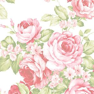 Floral Wallpaper Brand:Norwall Book:Abby Rose 2 Item (Previous Item No.