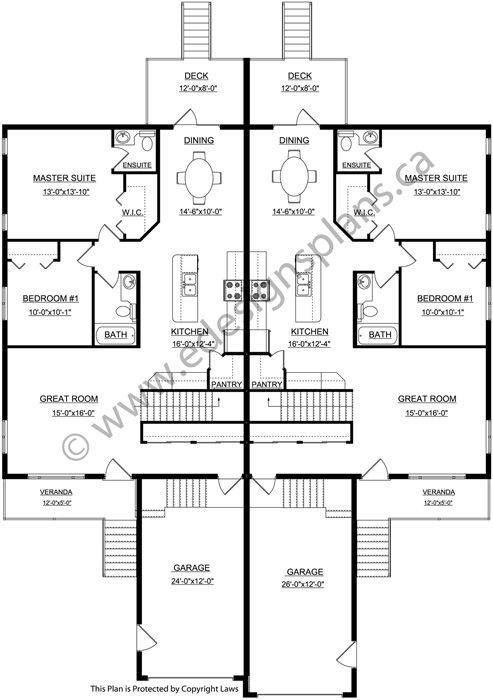 Best 25 duplex plans ideas on pinterest duplex house for Duplex house plans with basement