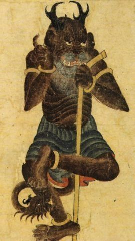 Div Akwan the black Demon in Shahnameh, by Siyah Qalem