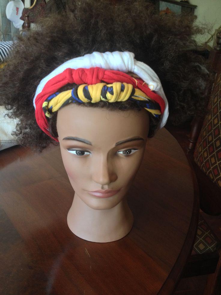 T-shirt strips head bands