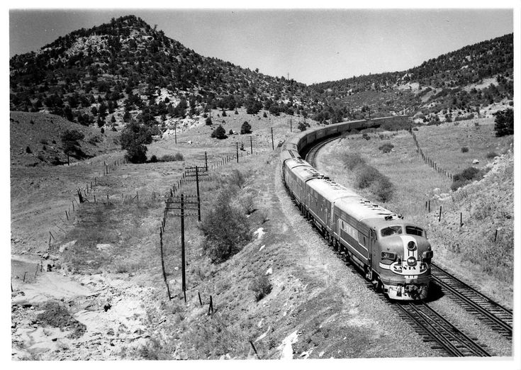 Santa Fe Super Chief on Raton Pass on September 7th, 1959 | Flickr - Photo Sharing!