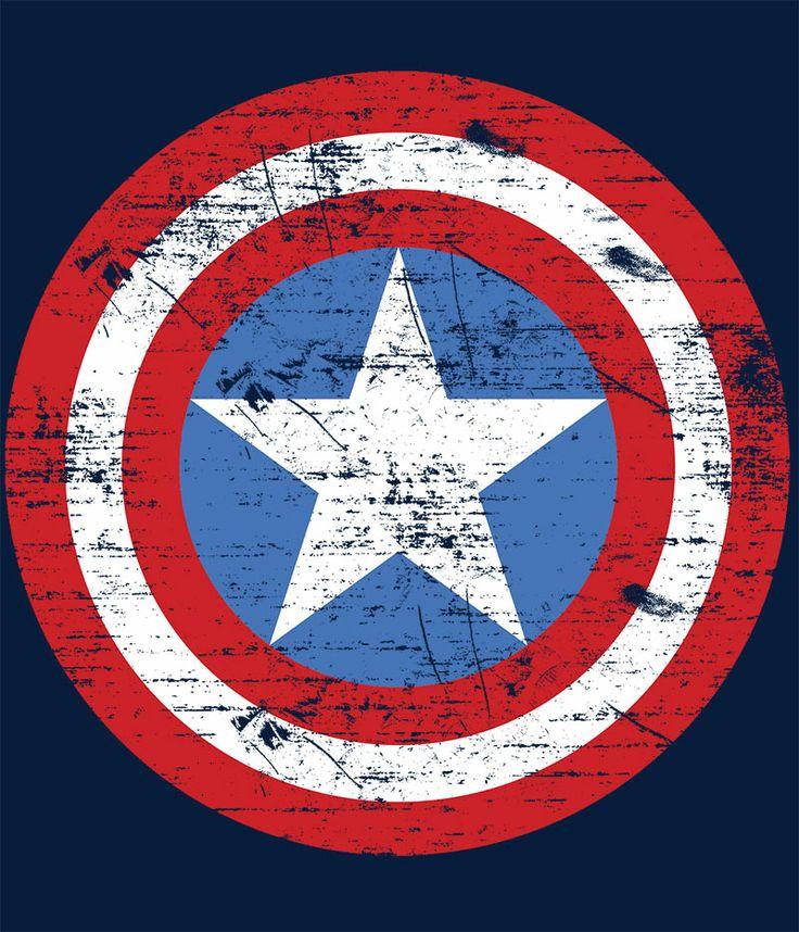 Camiseta Capitán América. Escudo dañado                                                                                                                                                                                 Más