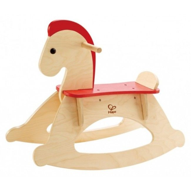 Hape's Rock and Ride Rocking Horse is a perfectly-balanced wooden ride-on toy that boosts gross motor skills, including coordination, balance, and physical strength #rockinghorse #Horse #Hape #Pony #Woodentoys
