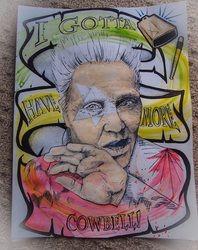 Gallery - Chantella Viala's Art Gallery, Gotta have more cowbell, watercolor, $45, 18x24