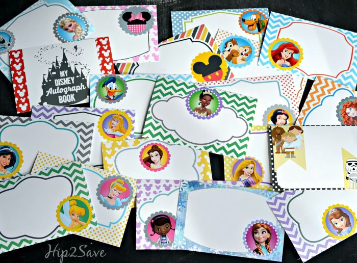 Free Printable Disney Character Autograph Pages (Perfect for Upcoming Disney…