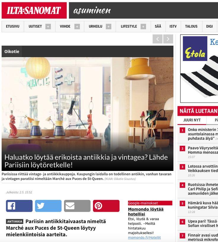 Iltasanomat / Asuminen, kirjoittamani ja kuvaamani juttu,   http://www.iltasanomat.fi/asuminen/art-1430360725985.html