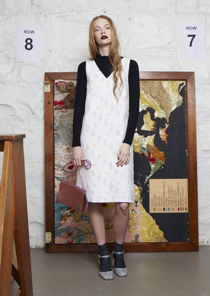 frill neck jumper | pebbles dress | connie bag | sparkle sock | lowland heel